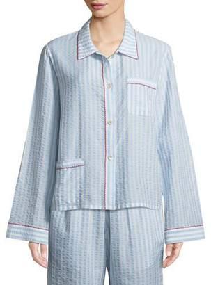 Morgan Lane Ruthie Striped Seersucker Pajama Top