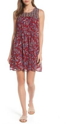 Women's Lucky Brand Mixed Print Shift Dress $99 thestylecure.com
