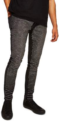 Topman Ozzy Stud Stretch Skinny Jeans