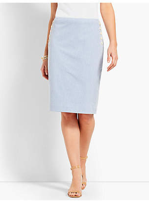 Talbots Seersucker Pencil Skirt