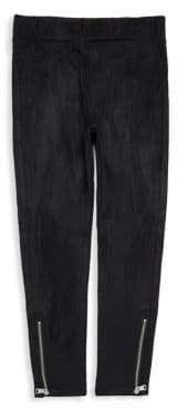 7 For All Mankind Girl's Zip-Cuff Jeggings