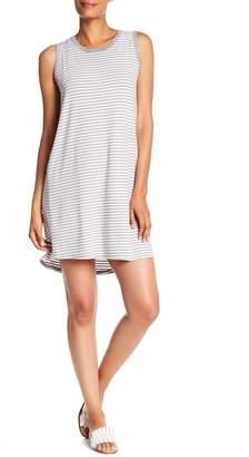 Allen Allen Striped Mini Tank Dress