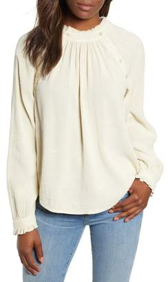 Caslon Textured Cotton Blouse
