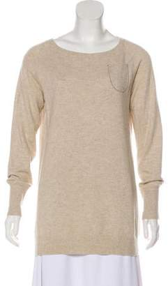 Brunello Cucinelli Embellished Scoop Neck Sweater