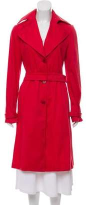 Calvin Klein Collection Notch-Lapel Trench Coat