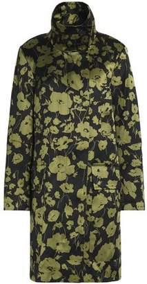 Michael Kors Floral-Print Cotton And Silk-Blend Coat