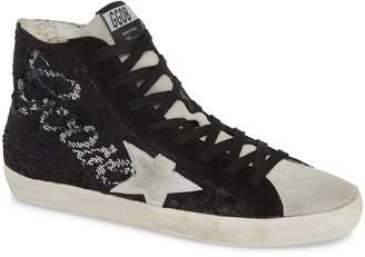 Golden Goose Francy Sequin Logo High Top Sneaker