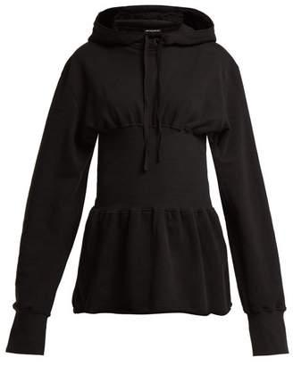 Ann Demeulemeester Grimm Panelled Hooded Sweatshirt - Womens - Black