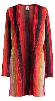 M Missoni Women's Striped Lurex Open-Front Cardigan