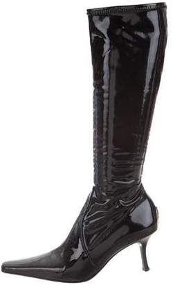 Donald J Pliner Pointed-Toe Knee-High Boots