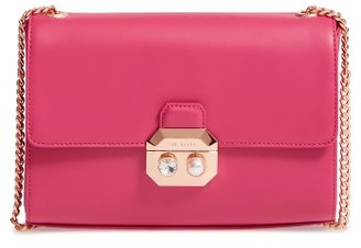 Ted Baker London Leather Crossbody Bag - Pink $225 thestylecure.com