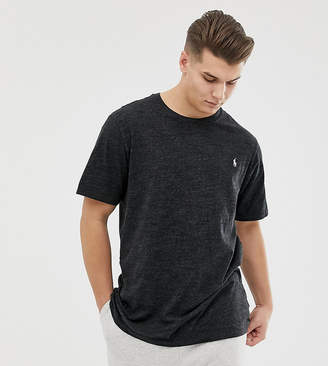 Big & Tall t-shirt player logo in charcoal marl