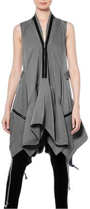 Gracia Drawstring Zipper Dress