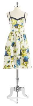 ABS by Allen Schwartz Floral A Line Dress
