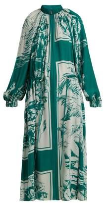 Tibi Leilani Oversized Silk Dress - Womens - Multi