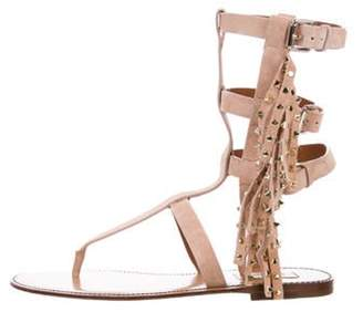 Valentino Embellished Gladiator Sandals w/ Tags Beige Embellished Gladiator Sandals w/ Tags