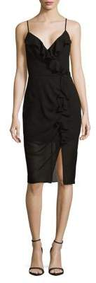 Cooper St Ruffled V-Neck Sheath Dress