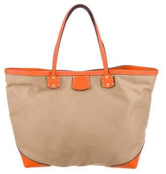 Ghurka Leather-Trimmed Canvas Tote w/ Tags