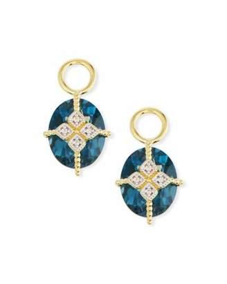 Jude Frances 18k Gold Lisse Blue Topaz & Kite Earring Charms