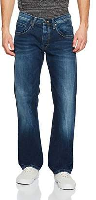 Pepe Jeans Men's Jeanius-016 Straight-016 Jeans, Blue (Denim 000-W53), 40W x 34L