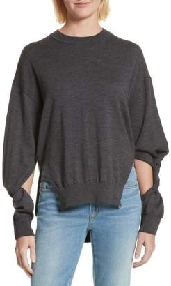 Alexander Wang Twisted Sleeve Wool Sweater