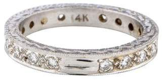 Ring 14K Etched Diamond Band