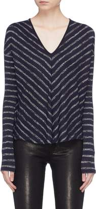 Rag & Bone 'Hudson' chevron stripe V-neck sweater