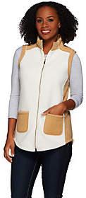 Susan Graver Weekend Bonded Polar Fleece Color-Block Vest