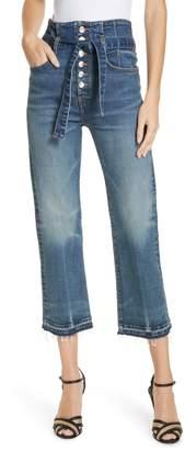 Veronica Beard Marlene Corset Waist Straight Leg Jeans