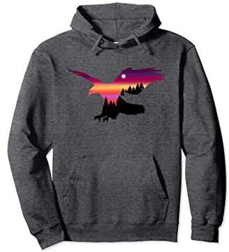 Beautiful Flying Eagle Surreal Sky Silhouette T-Shirt Hoodie