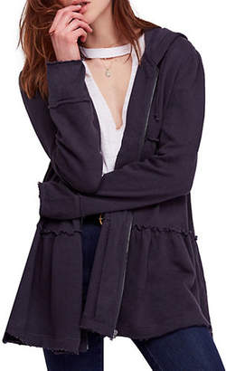 Free People Tiered Trapeze Zip Jacket