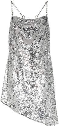 Sandy Liang Tonya cowl neck spaghetti strap dress