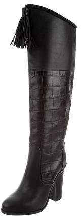 Lanvin Embossed Knee-High Boots w/ Tags