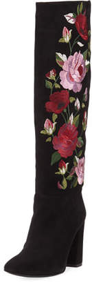 Kate Spade Greenfield Floral-Embroidered Knee-High Boot