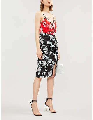 Diane von Furstenberg Ebony printed crepe dress