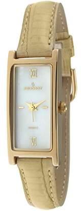 Peugeot Women's 3017TN Gold-Tone Leather Strap Watch