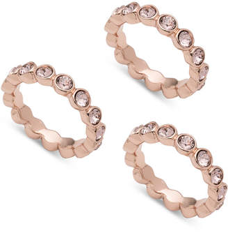 Givenchy 3-Pc. Set Crystal Bezel Stackable Rings