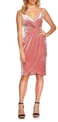 Cynthia Steffe Velvet Wrap Dress