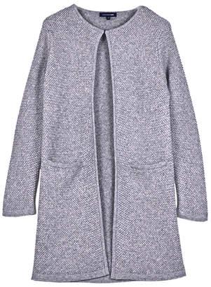 Cashmere Blend Weave Pattern Coat