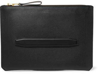 Tom Ford Full-Grain Leather Pouch - Men - Black