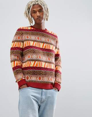 Asos DESIGN sweater with all over pattern