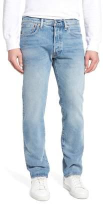 Levi's 501(TM) Slim Straight Leg Jeans (Mowhawk)
