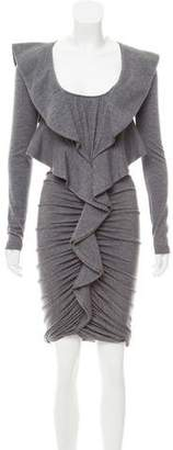 Givenchy Ruched Wool Dress