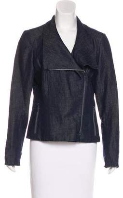 Lafayette 148 Denim Moto Jacket