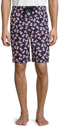 Psycho Bunny Men's Woven Jam Cotton Shorts