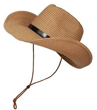 d2aa5c370a6 Tinksky Cowboy Sun Hat Wide Bri Hat Suer Beach Straw Cap Foldable Caps