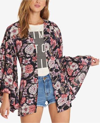 Billabong Juniors' All Flored Bell-Sleeve Kimono