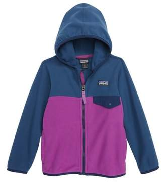 Patagonia 'Micro D(R) Snap-T(R)' Hooded Fleece Jacket
