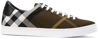 Burberry checked sneakers