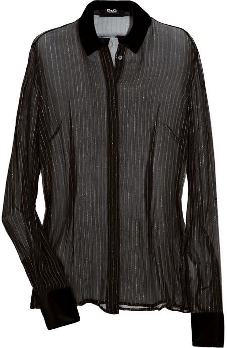 D&G Metallic pinstripe silk-blend blouse